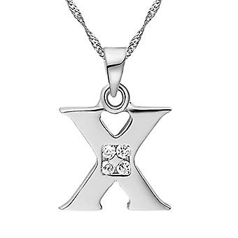 Necklace with pendant in the shape of a letter of the alphabet, for men and women. and base metal, color: Letter X silver., cod. Ref. 4058433105294