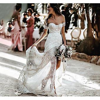 Simple Boho Sirène Dentelle Robes de mariée