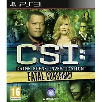 CSI brottsplatsutredning dödlig konspiration spel PS3