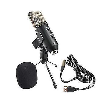 Micrófono de condensador USB, enchufe y reproducir micrófono para pc portátil, youtube estudio podcast de vídeo