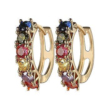 Earrings U Shape Copper Color Austrian Zircon Ear Clips For Wedding