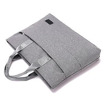 Handschellen Canvas File Bag Tragbare ReißverschlussTasche Mehrschicht Aktentasche einfache Notebook Tasche