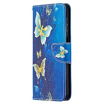 Samsung Galaxy A32 4g Case Pattern Magnetic Protective Cover Gold Butterfly