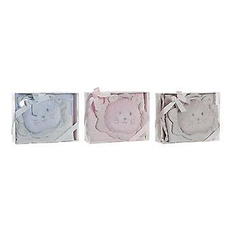 Gift Set for Babies DKD Home Decor Blue Beige Pink (3 pcs)