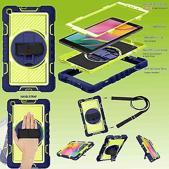 Für Samsung Galaxy Tab A 8.0 2019 T290 T295 aufstellbare Outdoor Hybrid Blau / Grün 360 Grad mit Halte-Schlaufe Tablet Tasche Etuis Cover Case Schutz Robust Neu