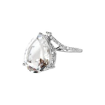 Jacques Lemans - Ring Sterling Silver with White Topaz - SE-R160A58 - Ring width: 58