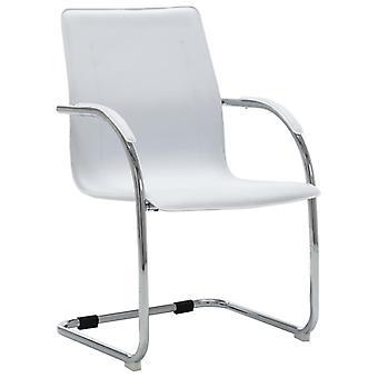 vidaXL Консольный стул Офис Стул Белый Синтетический Кожа