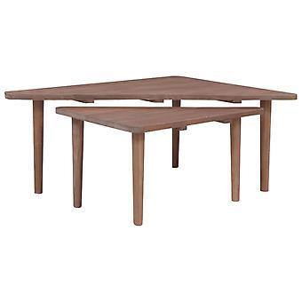 vidaXL Sohvapöydät 2 Kpl. Massiivipuu Tiikki