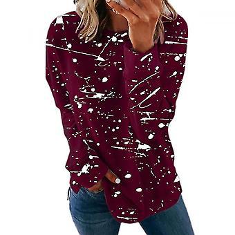 Lohill Mujer Manga Larga Estampado Camiseta Tops Damas Casual Jersey Blusa Plus Size