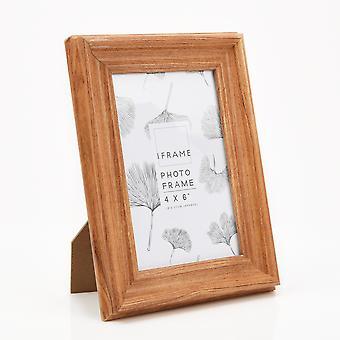 "iFrame Thick Wood Finish Photo Frame 4"" x 6"""