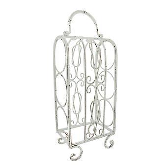 Metallo bianco decorativo da tavolo vino Rack