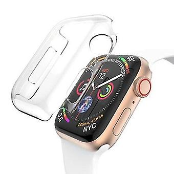 Pda cases for apple watch series 5 4 44mm full coverage pc case transparent