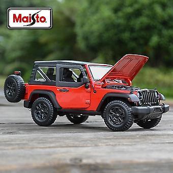 おもちゃの車1:18ジープウィリーは、収集可能なモデル車のおもちゃ|ディエキャストおもちゃの車赤をキャスト車を死ぬ