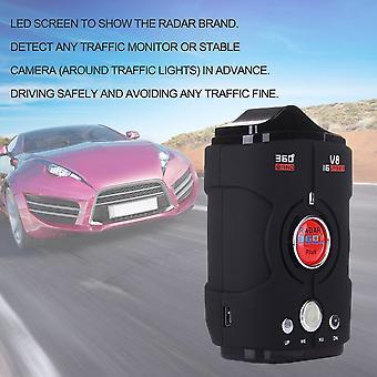 Bilradardetektor V8 360 graders tosproget advarselslaseralarmstyret skærm