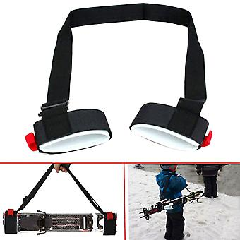 מוט סקי מוט כתף נושאת יד מתכווננת רצועת וו הגנה