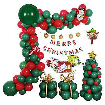 Xmas Tree Latex Ballonnen AluminiumFolie Ballon Shopping Mall Pillar Party Decor
