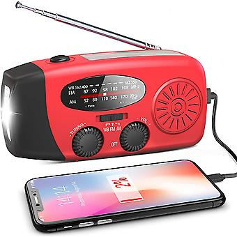 Emergency Solar Radio Hand Crank Weather Radio With Led Flashlight Phone Power Bank Charger