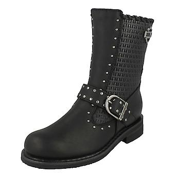 Ladies Harley Davidson Calf High Biker Boots Abbie
