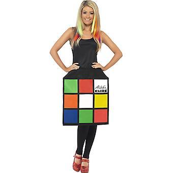 Cube Dress 3D Rubikova kocka kostým Dámske kocky šaty Rubi Cube