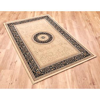 Noble Art 6572-192 Light beige ground with black border. Rectangle Rugs Traditional Rugs