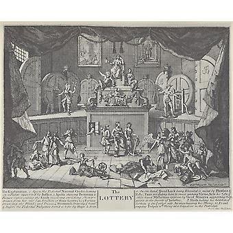 William Hogarth - The Lottery Poster Print Giclee