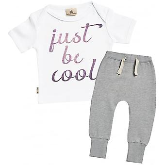 Spoilt Rotten Just Be Cool T-Shirt & Joggers Outfit Set