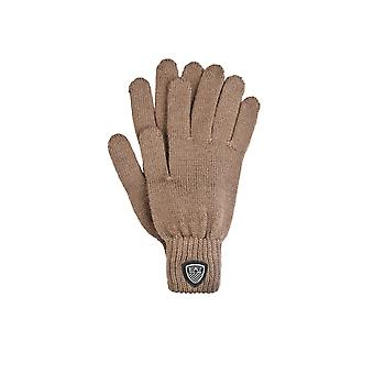 Ea7 Emporio Armani Emporio Armani Ea7 Guantes de lana de diseño en gris marino marrón y negro 2755135a394
