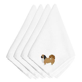 Juego de Carolines tesoros BB3438NPKE servilletas bordado Pequinés de 4