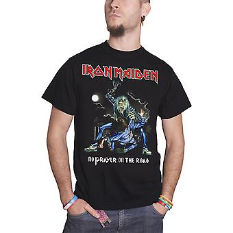 Iron Maiden T Shirt No Prayer on The Road Band Logo Official Mens New Black