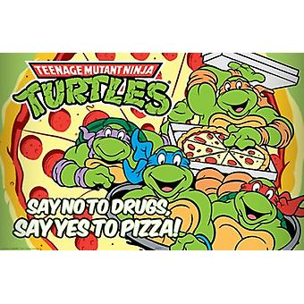 Teenage Mutant Ninja Turtles Say Yes To Pizza Poster Poster Print