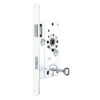 Premium-Qualität M4TEC ZB6 Innentür Klasse 1 Senke Lock-Limba Gesicht Platte Farbe – robuste, langlebige & einfach anzubringen – elegantes Design – DIN R – Single Turn - Ideal für Wohnung Zimmertüren