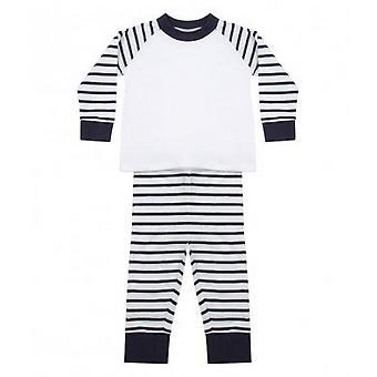 Larkwood Baby Jungen/Mädchen gestreifte Pyjamas