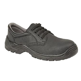 Grafters Unisex Leather Padded Collar 4 Eye Safety Shoe