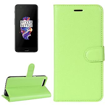 Pocket wallet premium green ONEPlus 5 protection sleeve case cover pouch new