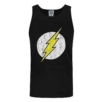 DC Comics Mens Flash Distressed Logo Vest