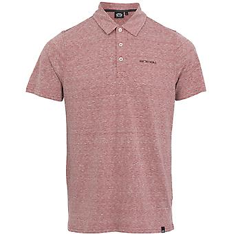 Animal Sonny Polo Shirt in Wild Ginger Red Marl