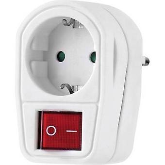 Renkforce 1173536 Inline-Steckdose mit Schalter 2-polig weiß