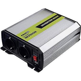 ProUser INV600N omvormer 600 W 12 Vdc - 230 V AC, 5 Vdc