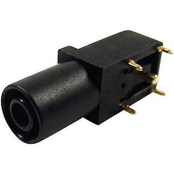 Cliff FCR7350B veiligheid jack aansluiting Socket, rechte hoek Pin diameter: 4 mm zwart 1 PC('s)