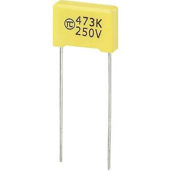 1 condensateur de film mince de confiez MKS Radial lead 0,047 µF 250 Vdc 5 % 10 mm (L x l x H) 13 x 4 x 9 mm