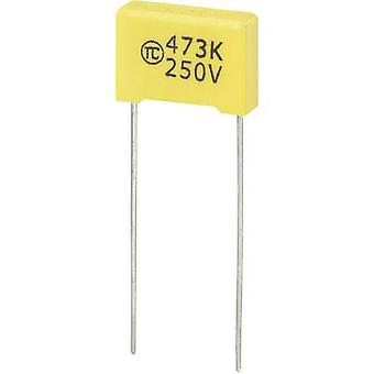 1 PC('s) MKS dunne film condensator radiaal leiden 0.047 µF 250 Vdc 5% 10 mm (L x W x H) 13 x 4 x 9 mm