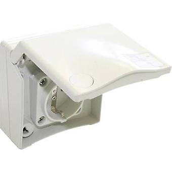 PCE 8630v Surface-mount socket Suitable for sports facilities IP44 White