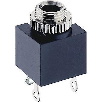 Lumberg 1502 03 audio jack de 3,5 mm Socket, vertical vertical número de pernos: 2 Mono negro 1 PC