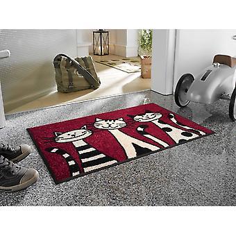 wash+dry Fußmatte Three Cats 50 x 75 cm Katzenfußmatte
