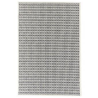 السجاد في الهواء الطلق لترأس/شرفة أسود أبيض سكاندى تبدو طبيعية Ecru ستويا أسود 130/190 سم السجاد داخلي/في الهواء الطلق--للداخل والخارج