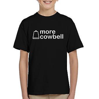 Koszulka prosty czarny tekst więcej Cowbell Kid