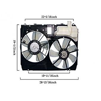 APDI 6034140 Dual Radiator and Condenser Fan Assembly