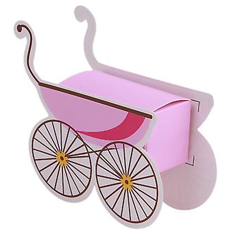 TRIXES Baby Handcart Candy Boxes 25PCS Pink