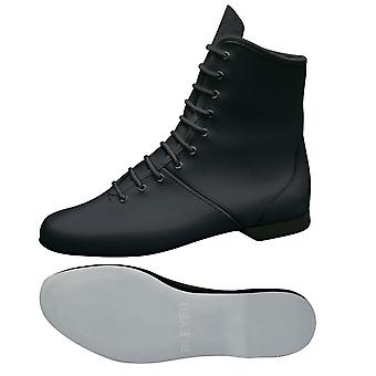 zwarte beschermlaarzen / Mariechen laarzen baal gebied leer / rubber hiel bedekt