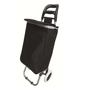 31L großen 22 Zoll schwarz Shopping Trolley Hoopa auf Rädern